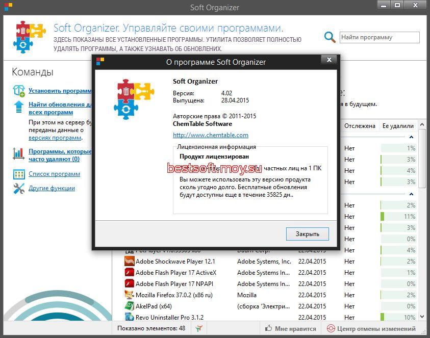 Скачать программу soft organizer о